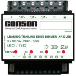 XP33LED - Phasenanschnittdimmer LED 3 x 100 VA