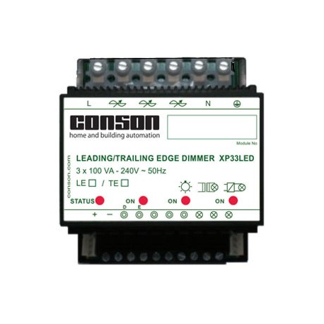 XP33LED - Driekanaals LED-dimmer - 3 x 100 VA