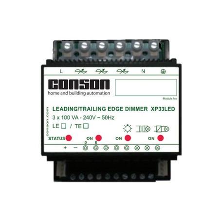 XP33LED - Leading edge LED dimmer 3 x 100 VA