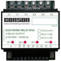 XP24 - Relay module 2 x 2 outputs 13A