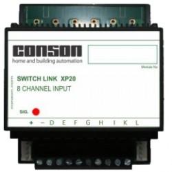 XP20 - Switch-Link 8 ingangen identisch aan CP20 maar 4-polige bus en real XP