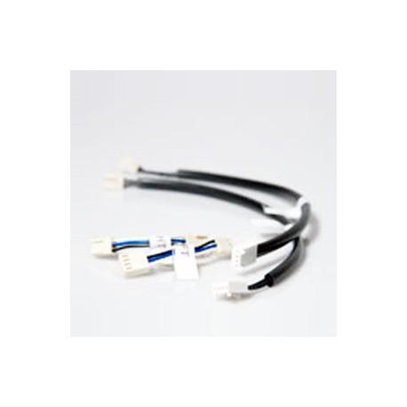 XP09CPV - Buskoppeling vertikaal links 25 cm van 4 naar 3-polig