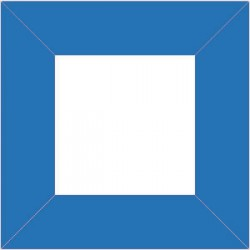 XP2551 - Cadre 80 x 80 mm / couleur bleu