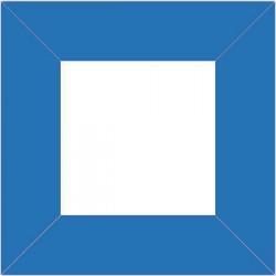 XP2551 - Rahme 80 x 80 mm für Drucktaster Blau