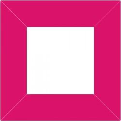 XP2552 - Cadre 80 x 80 mm / couleur rose