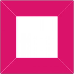 XP2552 - Raam 80 x 80 mm / kleur pink
