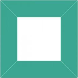 XP2553 - Cadre 80 x 80 mm / couleur turquoise