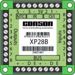 XP28B - Interface 8 entrées, 8 sorties, 2 I/O, 1 entrée température, pour télécommandes Bang & Olufsen 455 kHz